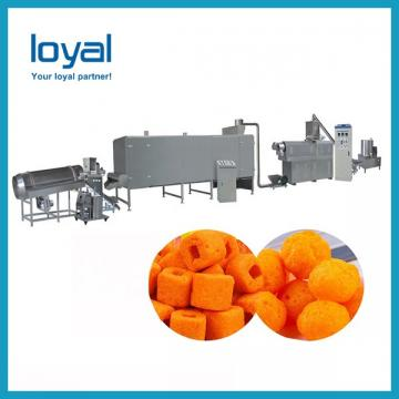 Twin Screw Extruder Puffed Corn Snack Making Machinery Flower Type Low Noise